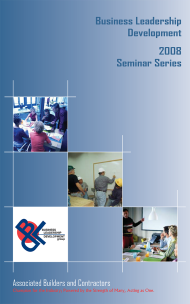 Seminar Series: Front cover - accordion fold