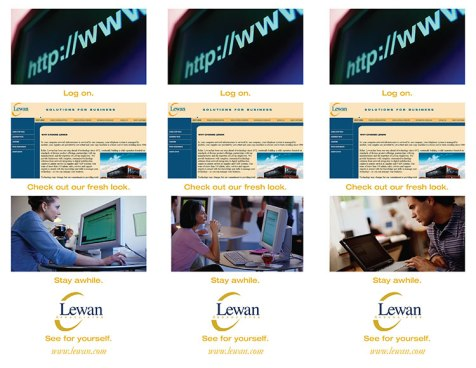 Visit Lewan 1 - 3 Versions, one page to be cut in thirds
